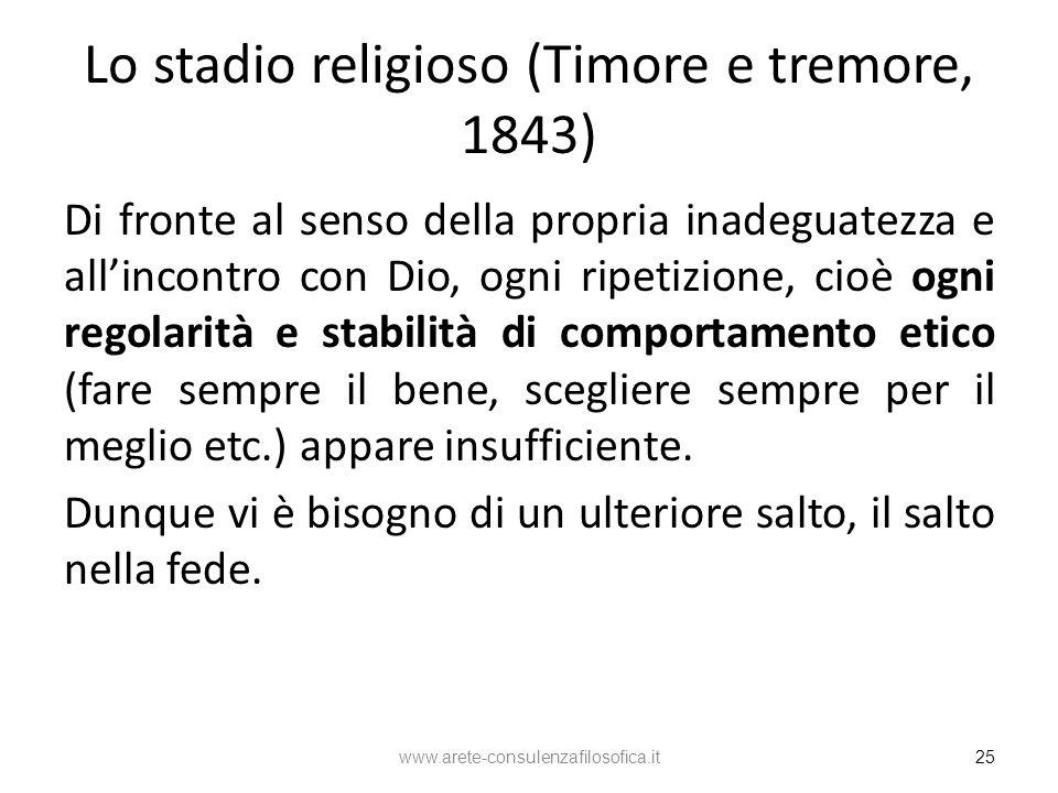 Lo stadio religioso (Timore e tremore, 1843)