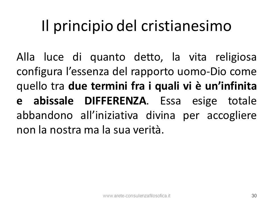 Il principio del cristianesimo