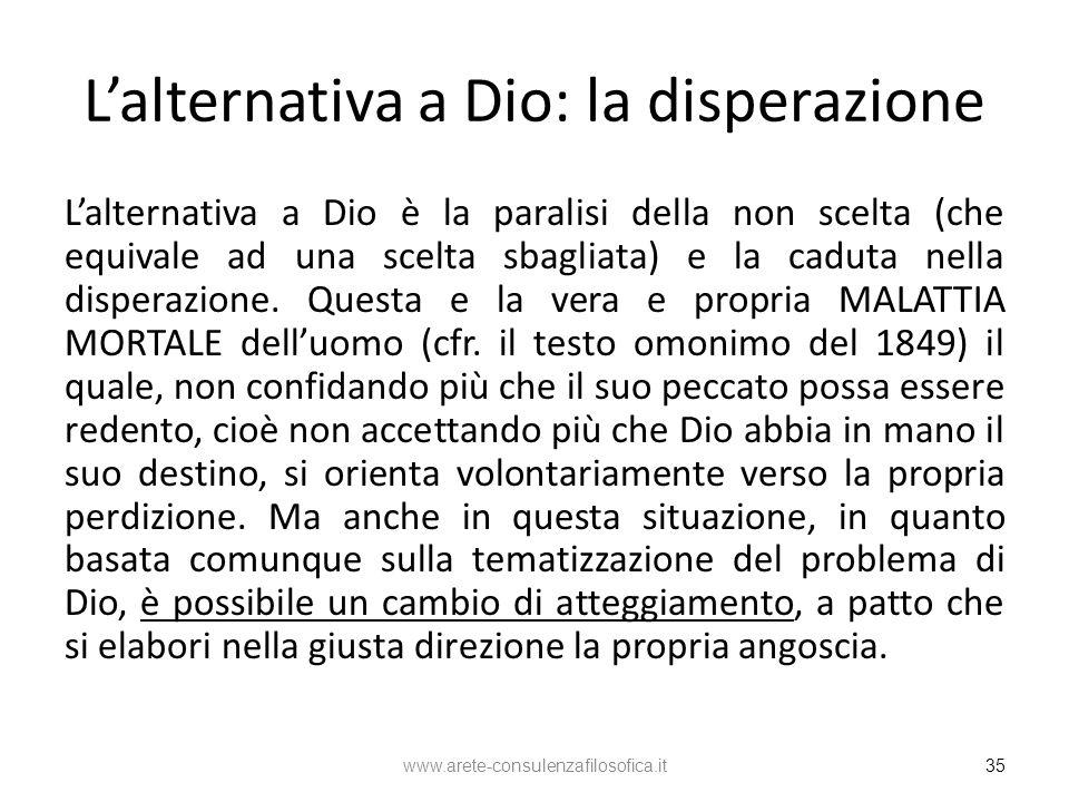 L'alternativa a Dio: la disperazione