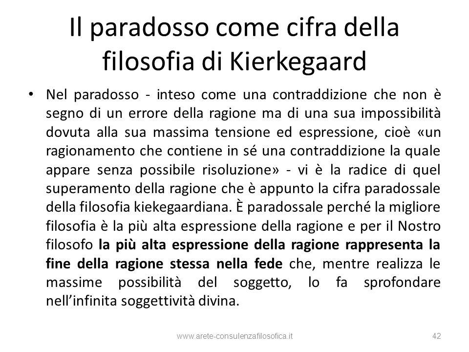 Il paradosso come cifra della filosofia di Kierkegaard