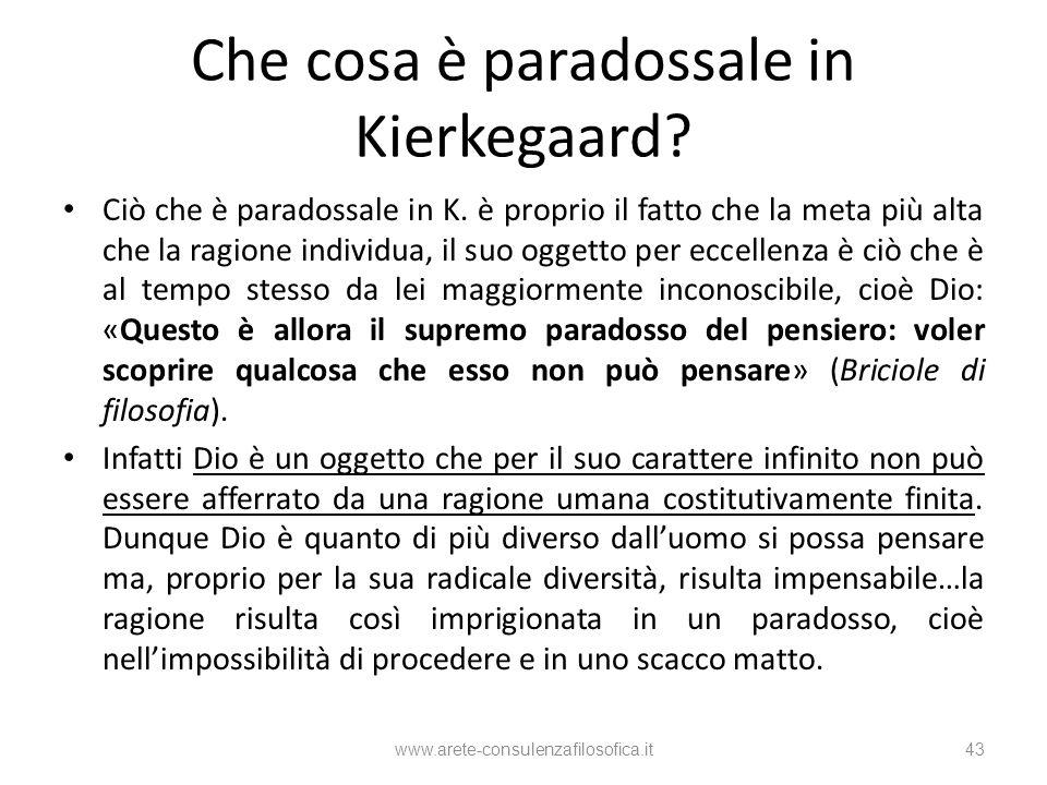 Che cosa è paradossale in Kierkegaard