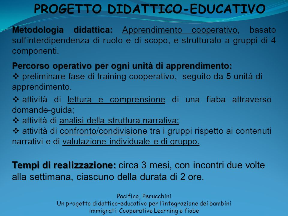 PROGETTO DIDATTICO-EDUCATIVO