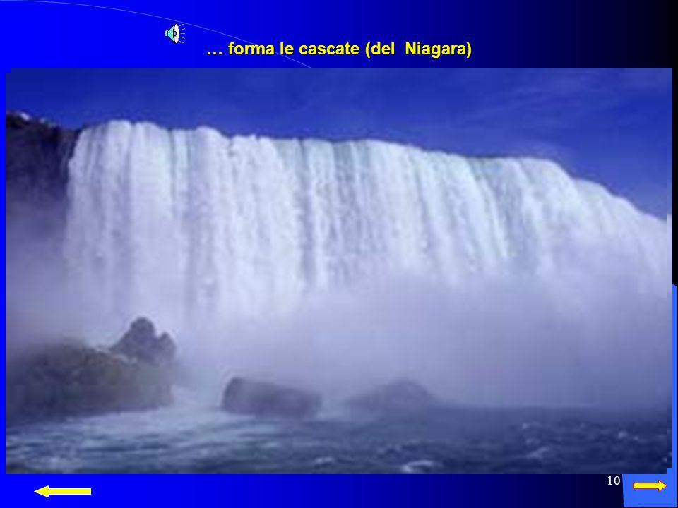 … forma le cascate (del Niagara)