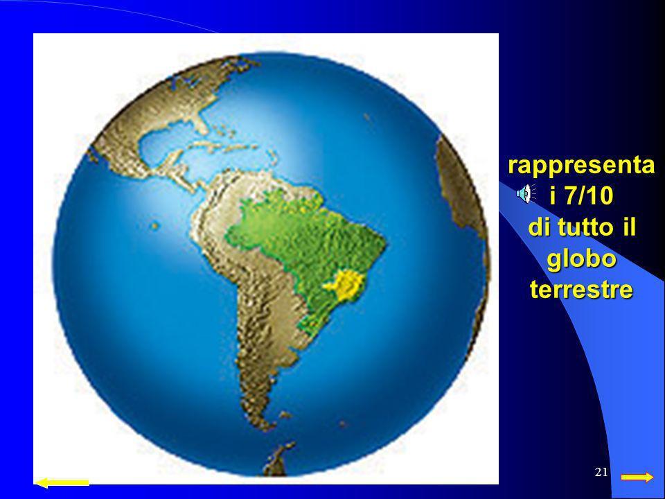 rappresenta i 7/10 di tutto il globo terrestre