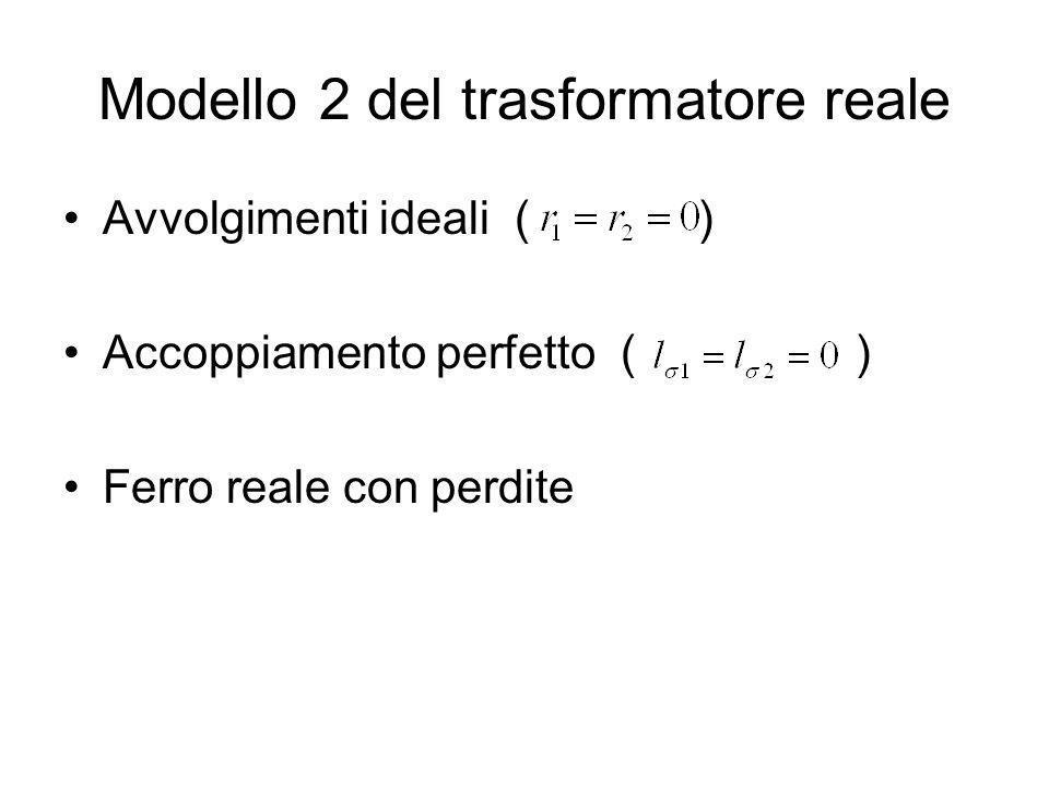 Modello 2 del trasformatore reale