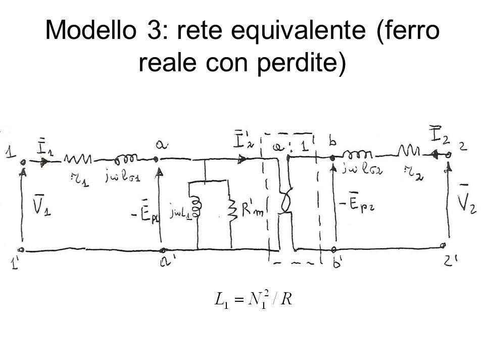 Modello 3: rete equivalente (ferro reale con perdite)