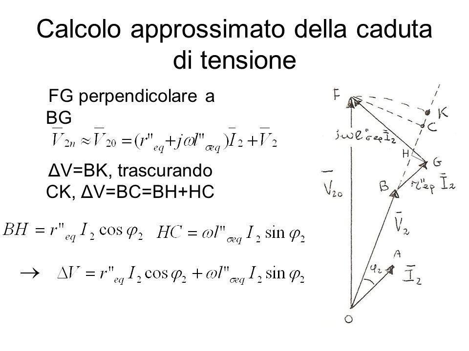 Calcolo approssimato della caduta di tensione