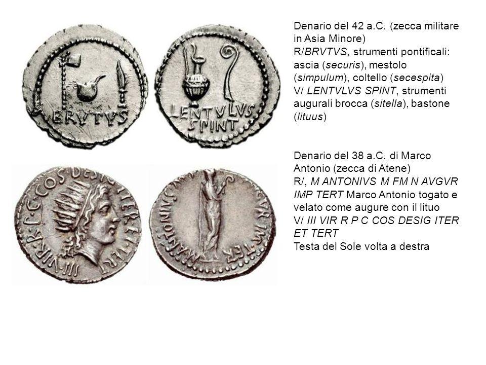 Denario del 42 a.C. (zecca militare in Asia Minore)
