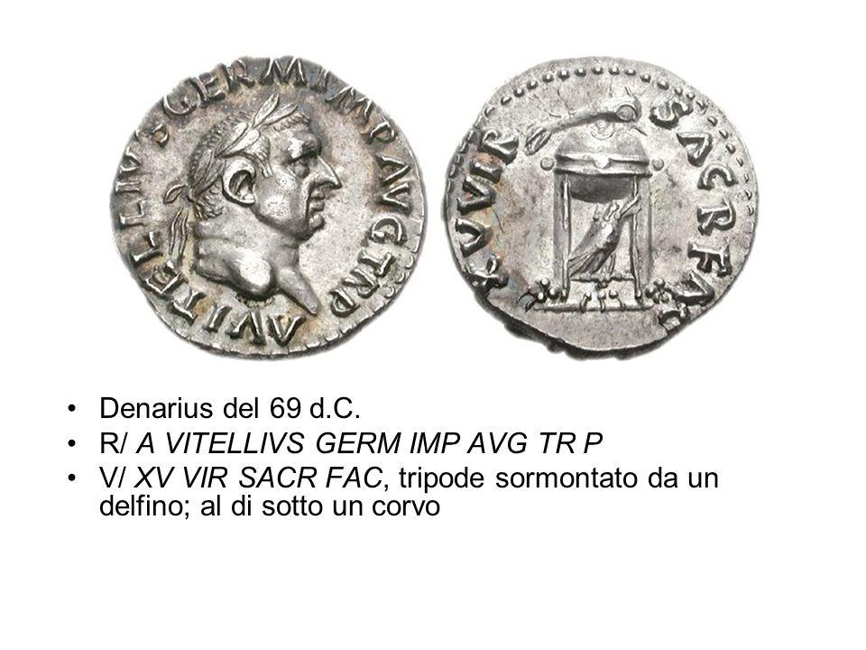 Denarius del 69 d.C. R/ A VITELLIVS GERM IMP AVG TR P.