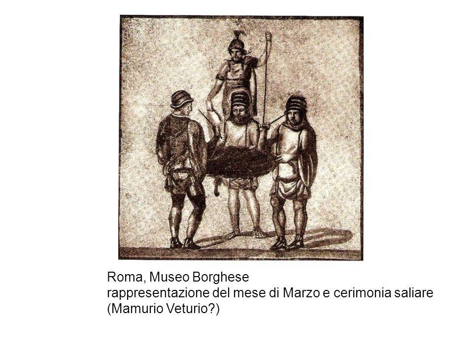 Roma, Museo Borghese rappresentazione del mese di Marzo e cerimonia saliare (Mamurio Veturio )