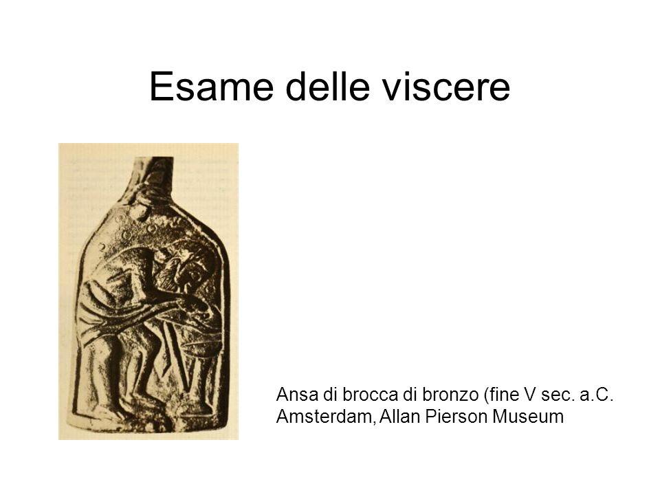 Esame delle viscere Ansa di brocca di bronzo (fine V sec. a.C.