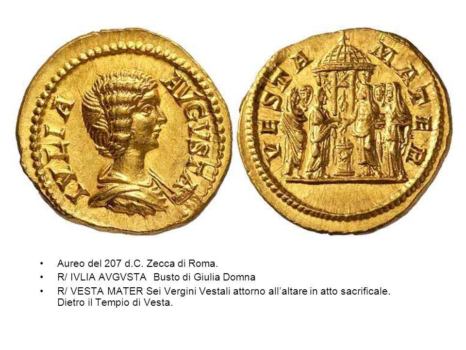 Aureo del 207 d.C. Zecca di Roma.