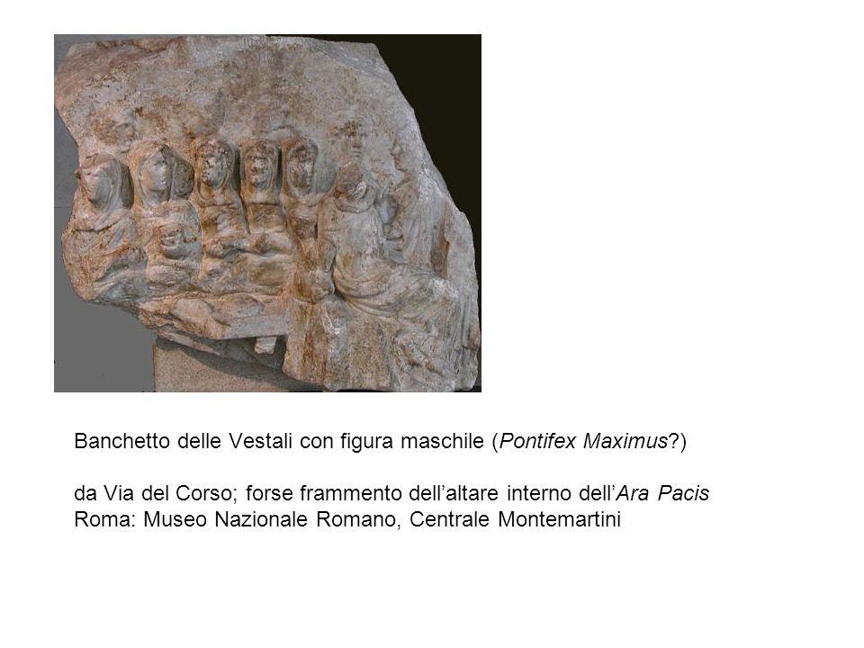 Banchetto delle Vestali con figura maschile (Pontifex Maximus