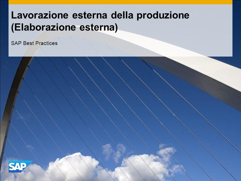 Lavorazione esterna della produzione (Elaborazione esterna)