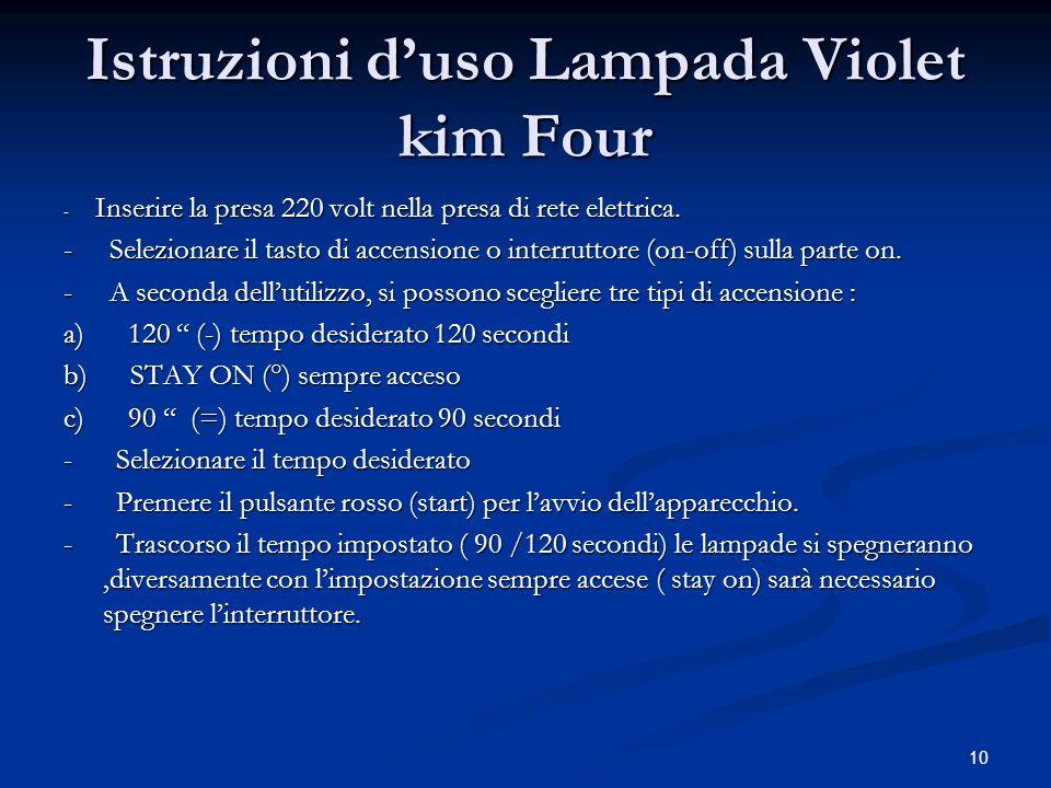 Istruzioni d'uso Lampada Violet kim Four
