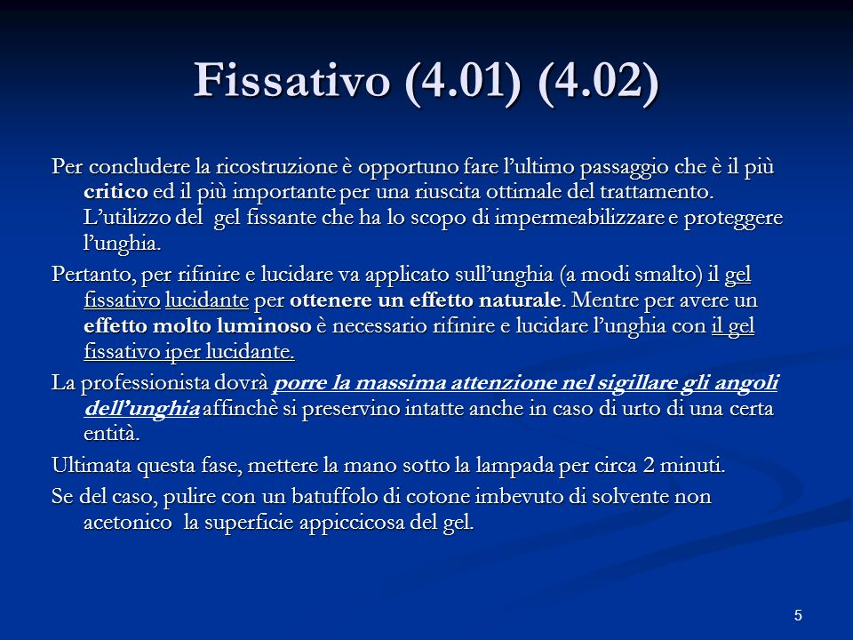Fissativo (4.01) (4.02)