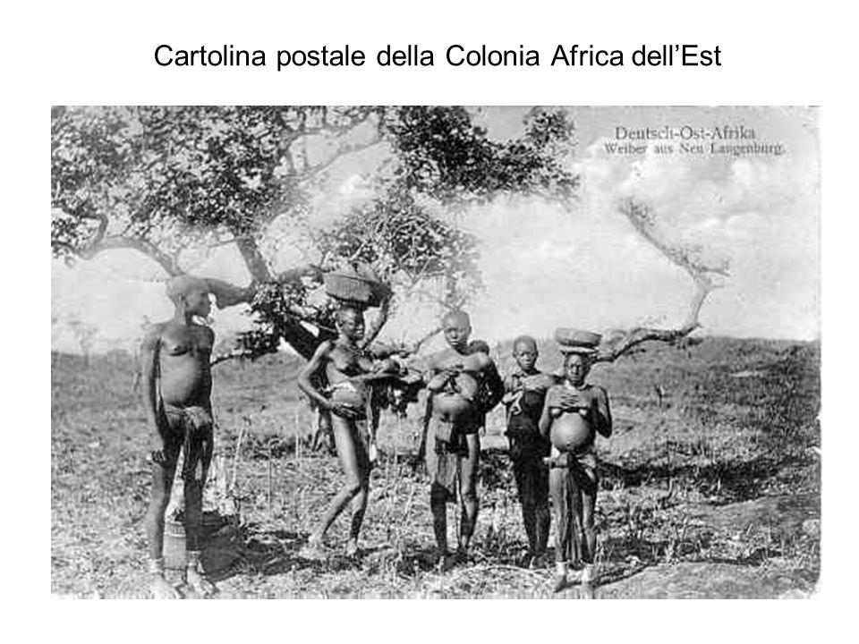 Cartolina postale della Colonia Africa dell'Est