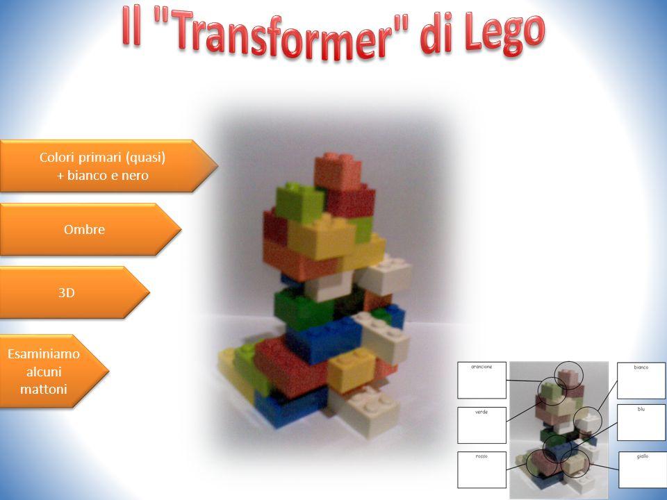 Il Transformer di Lego Colori primari (quasi) + bianco e nero Ombre