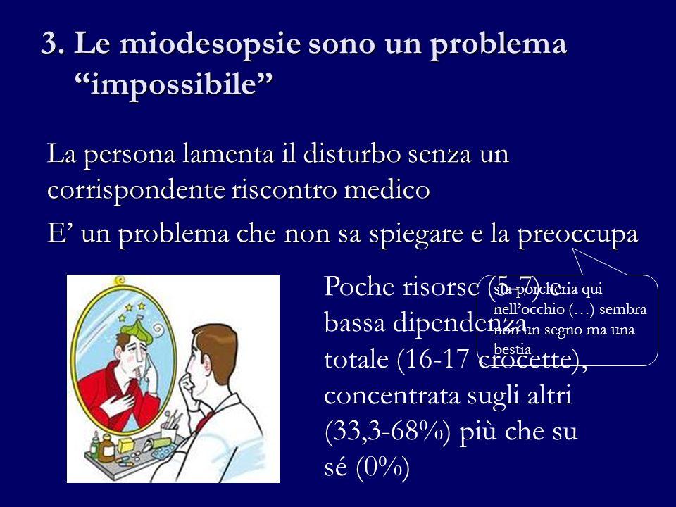 3. Le miodesopsie sono un problema impossibile