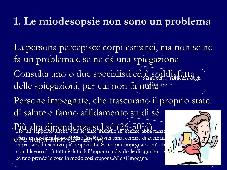 1. Le miodesopsie non sono un problema