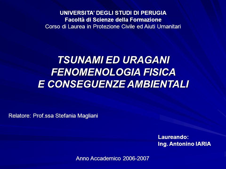 UNIVERSITA' DEGLI STUDI DI PERUGIA E CONSEGUENZE AMBIENTALI