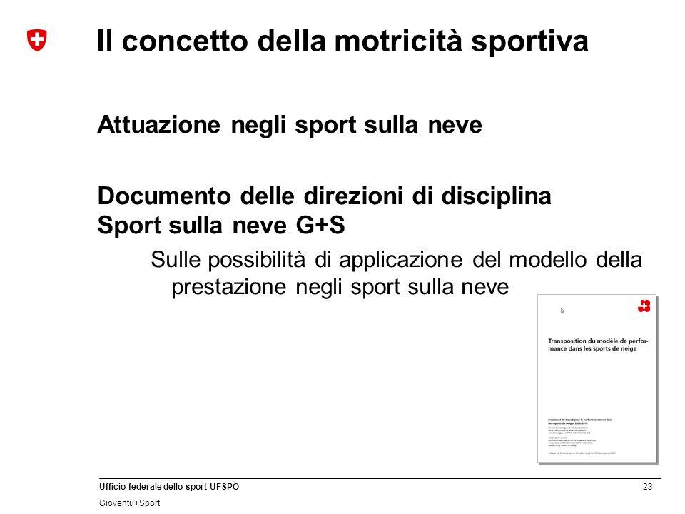 Il concetto della motricità sportiva