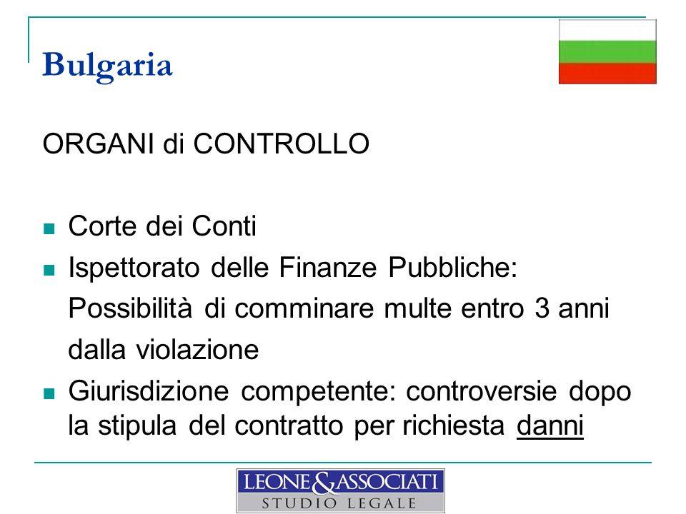 Bulgaria ORGANI di CONTROLLO Corte dei Conti