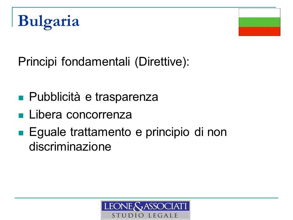 Bulgaria Principi fondamentali (Direttive): Pubblicità e trasparenza