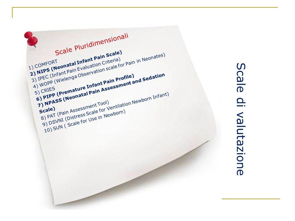Scale di valutazione Scale Pluridimensionali