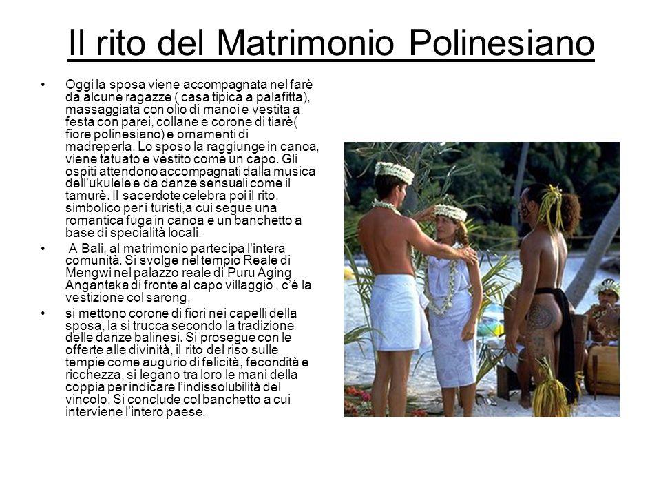 Il rito del Matrimonio Polinesiano