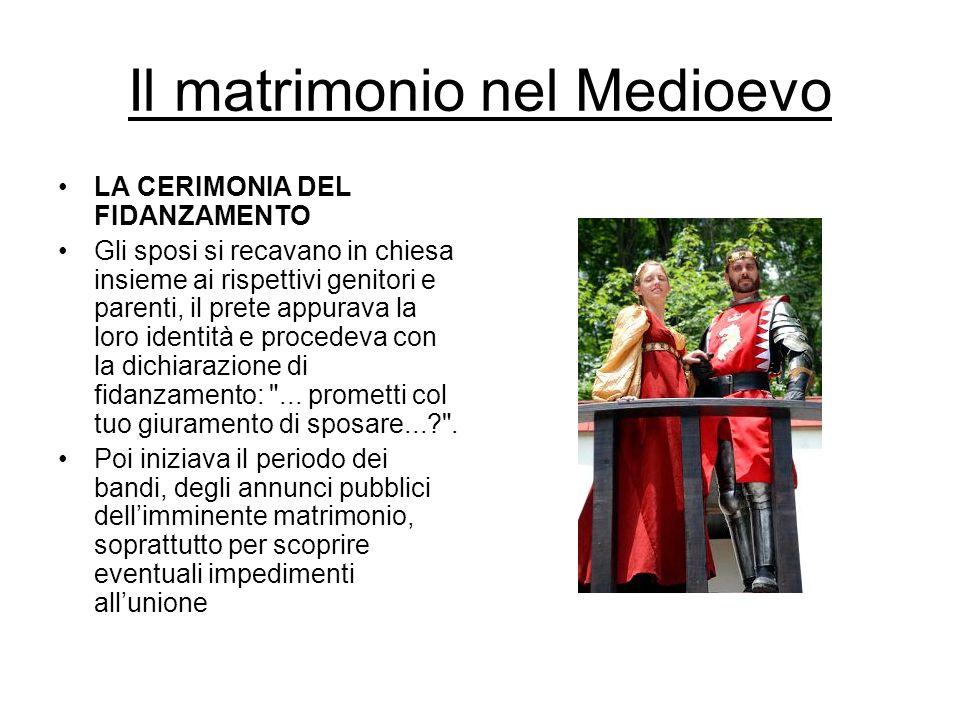 Il matrimonio nel Medioevo