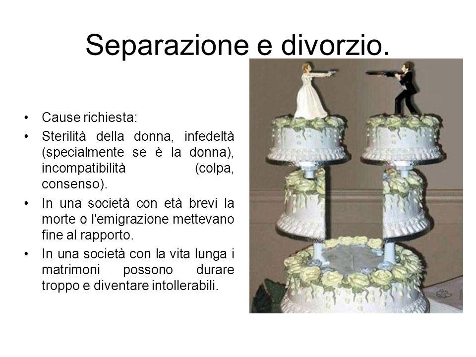 Separazione e divorzio.