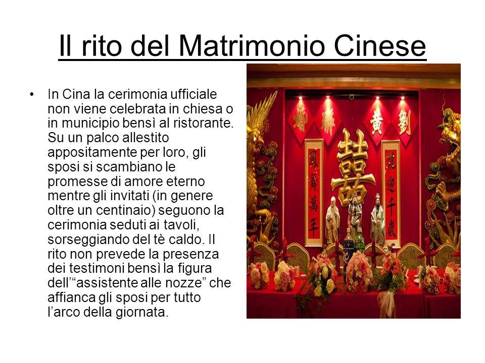 Il rito del Matrimonio Cinese