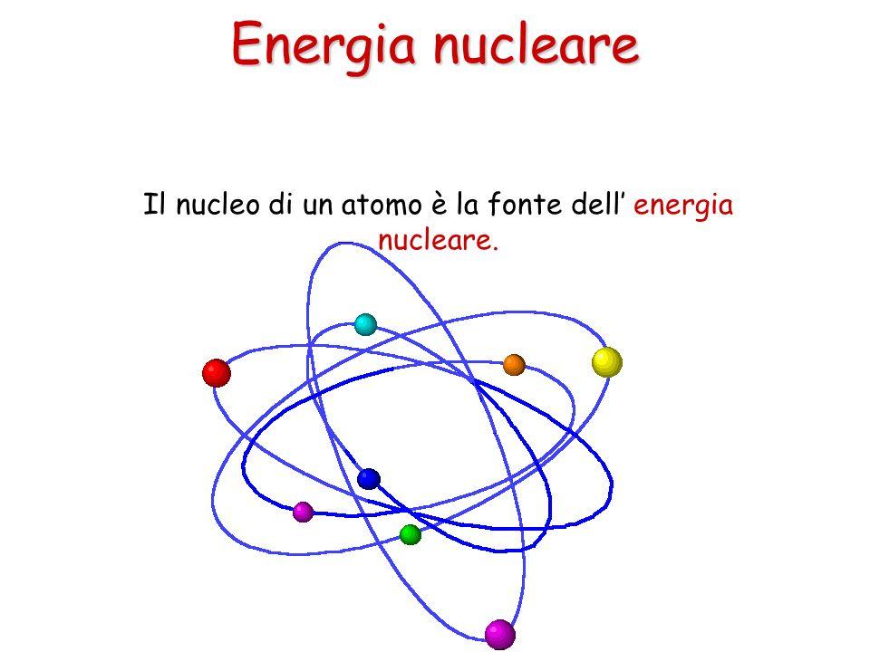 Il nucleo di un atomo è la fonte dell' energia nucleare.