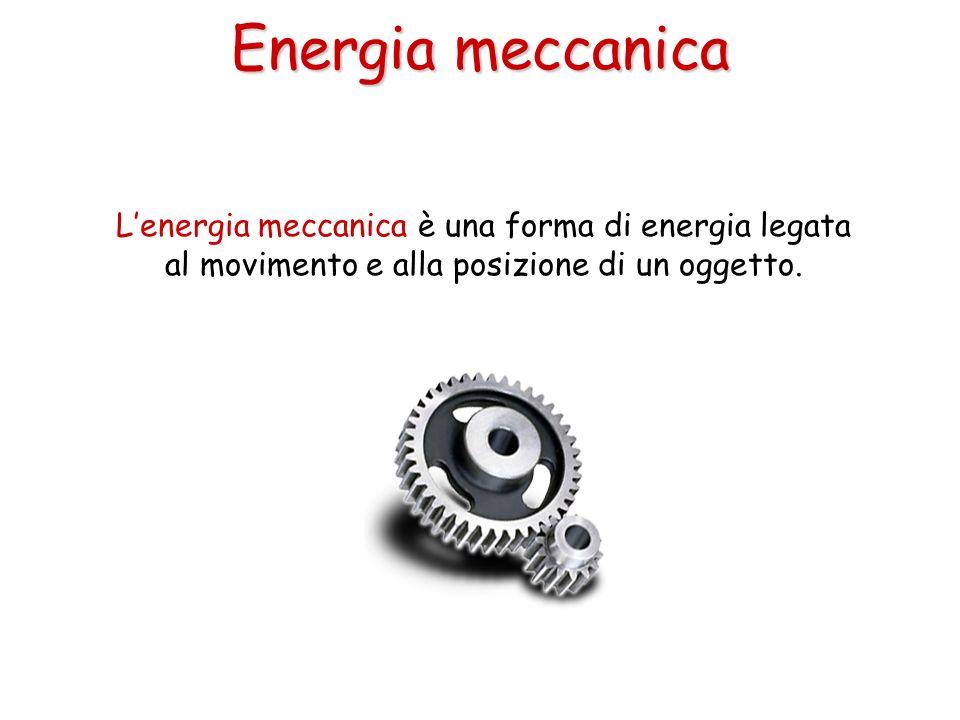Energia meccanica L'energia meccanica è una forma di energia legata al movimento e alla posizione di un oggetto.