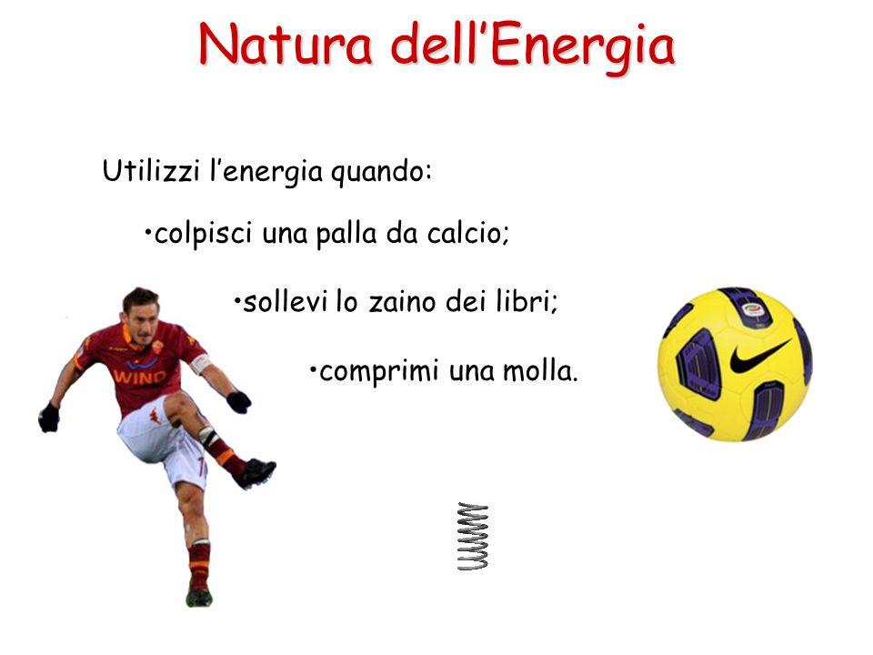 Natura dell'Energia Utilizzi l'energia quando: