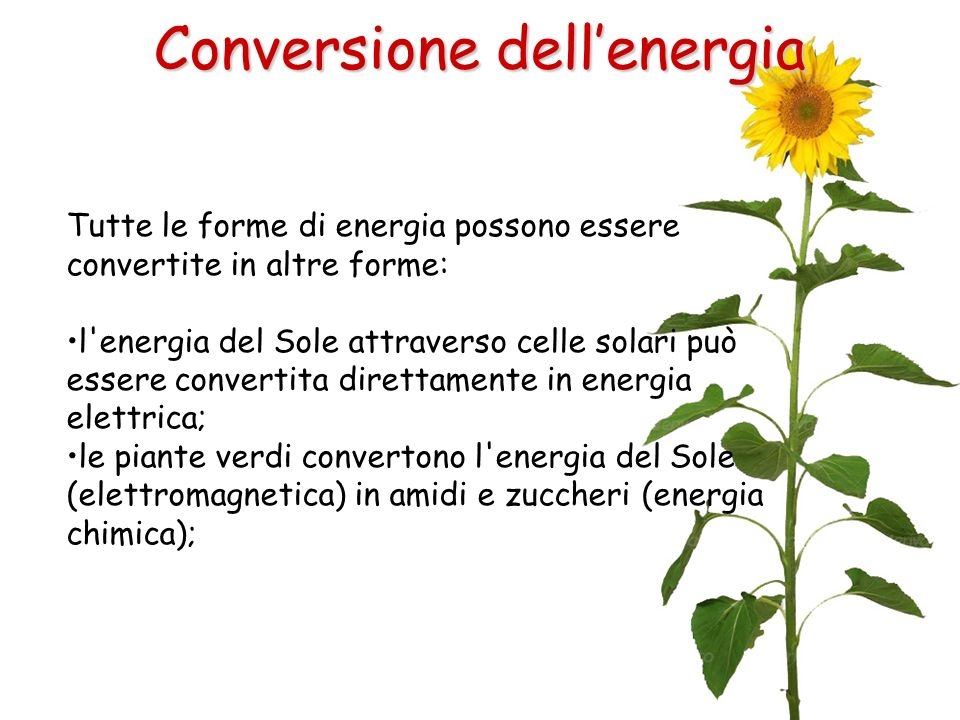 Conversione dell'energia