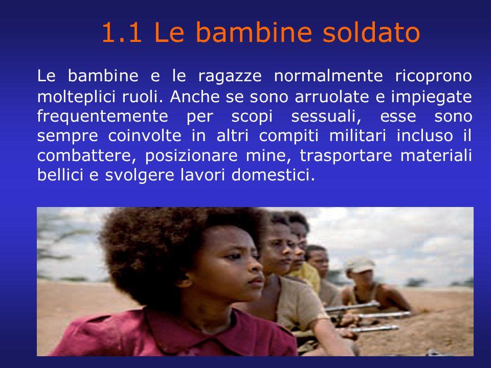 1.1 Le bambine soldato