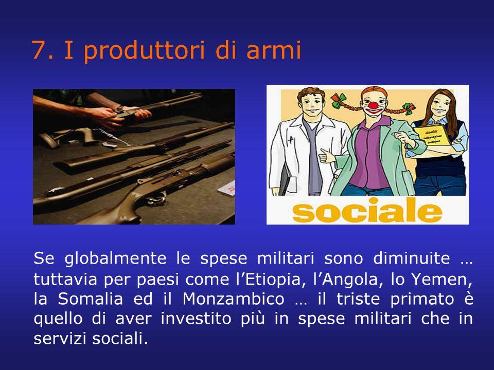 7. I produttori di armi