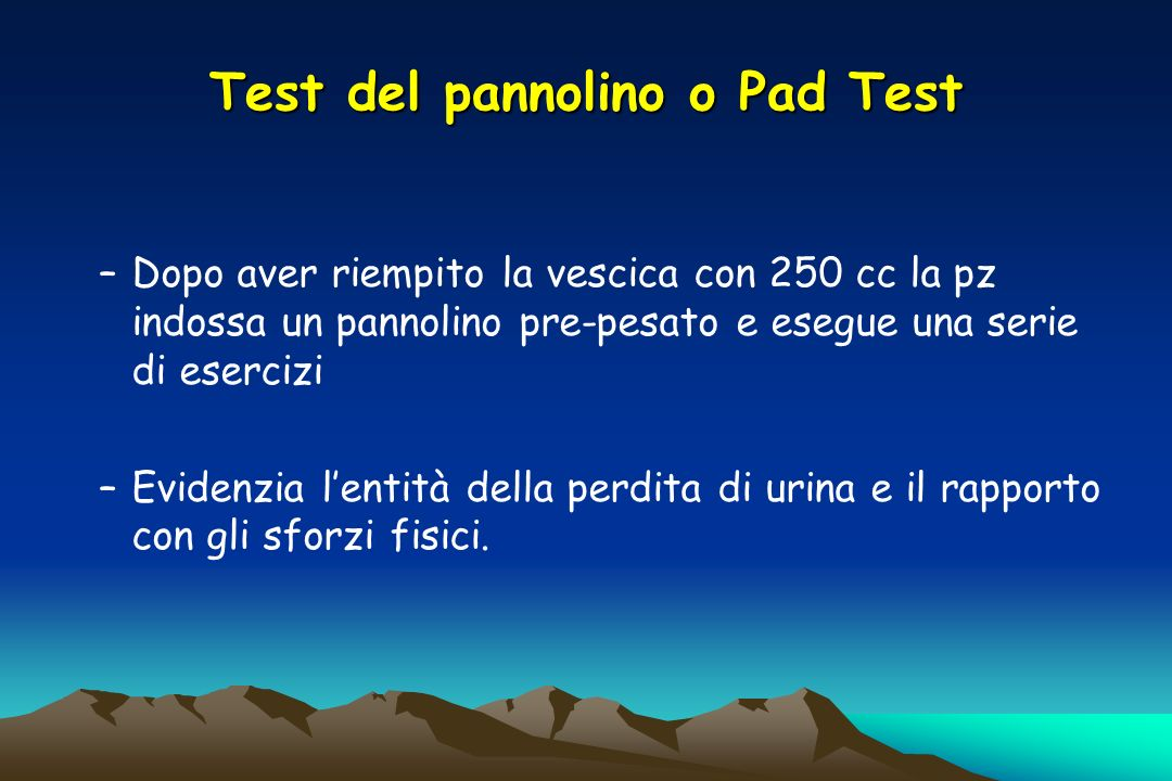 Test del pannolino o Pad Test