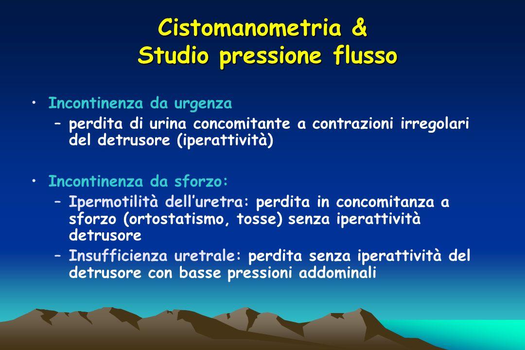 Cistomanometria & Studio pressione flusso