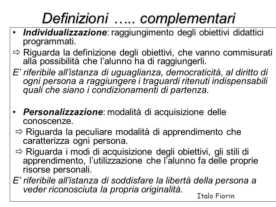 Definizioni ….. complementari