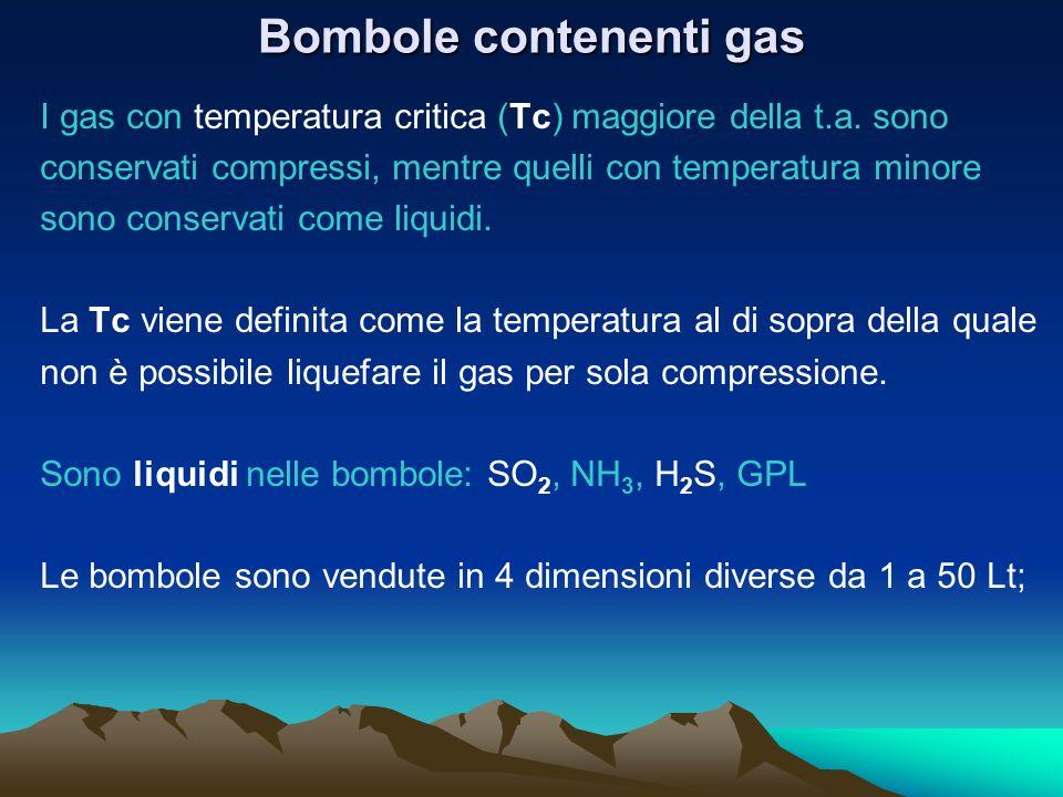 Bombole contenenti gas