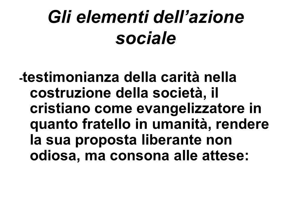 Gli elementi dell'azione sociale