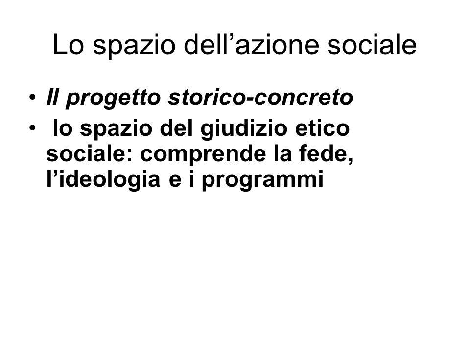 Lo spazio dell'azione sociale