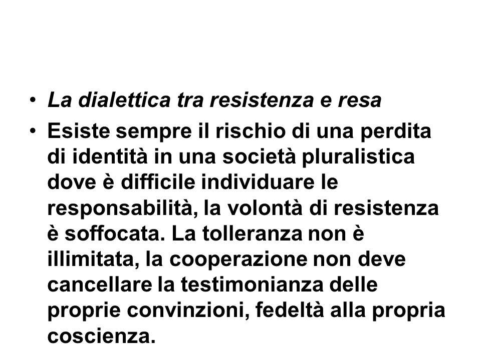 La dialettica tra resistenza e resa