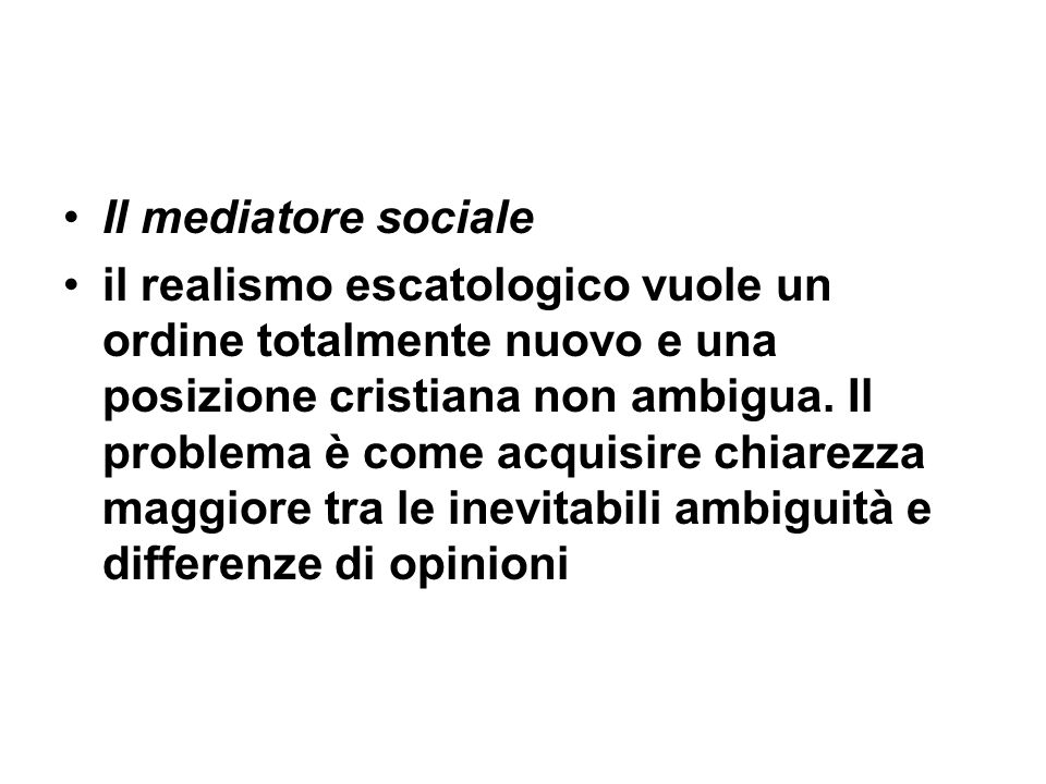 Il mediatore sociale