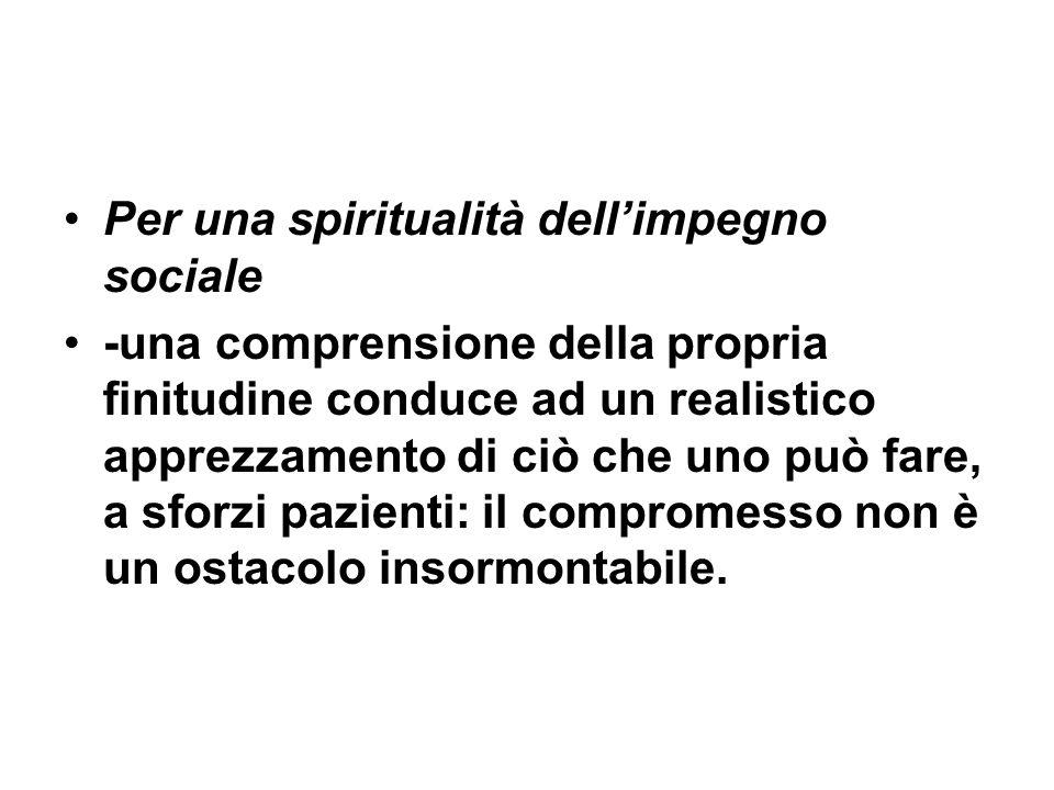 Per una spiritualità dell'impegno sociale
