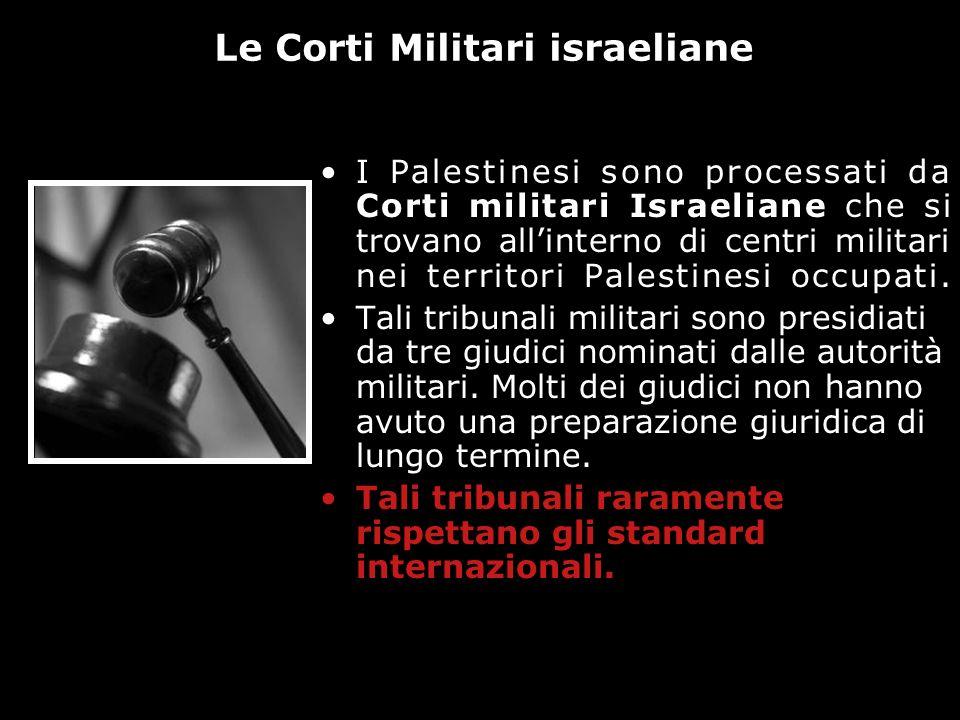 Le Corti Militari israeliane