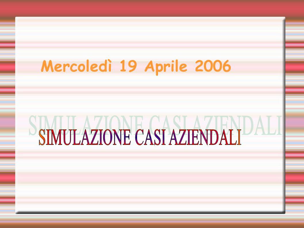 SIMULAZIONE CASI AZIENDALI